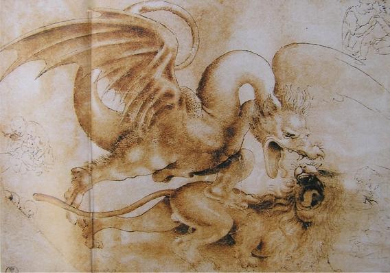 Dragon - Dessin de leonard de vinci ...